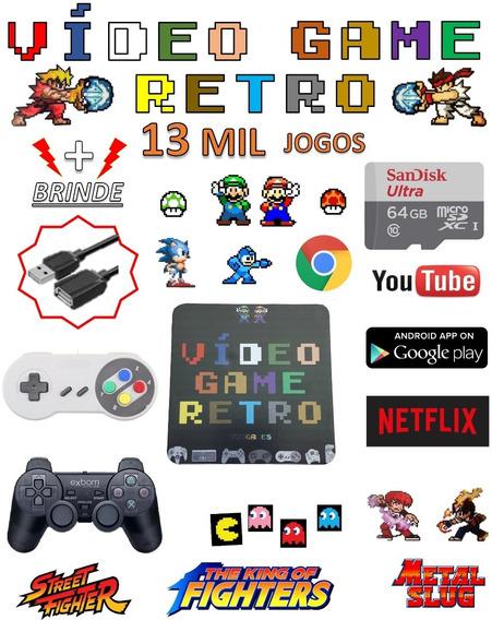 Video Game Retro Smart 64gb Com 2 Controles Jogos Retro