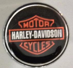Adesivo Harley Escudo Laranja Redondo 3cm + Brinde T3at