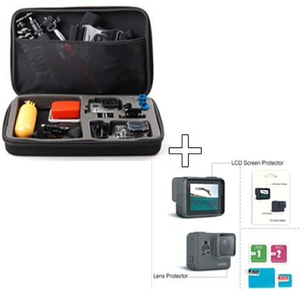 Kit Gopro Hero 6/5/7/4 Maleta Case G Película