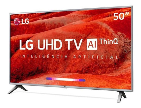 Smart Tv 4k Led 50 LG Um7510psb, 4 Hdmi, Usb, Webos, Wi-fi