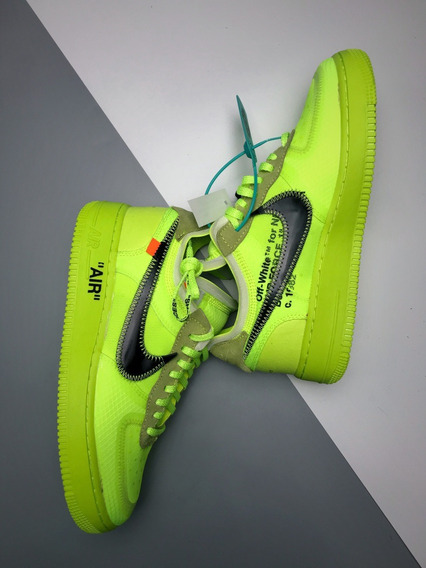 Zapatillas Nike Air Force X Off-white Verde Limon 36-45