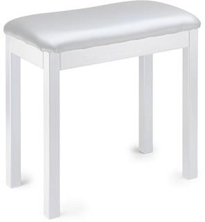 Stagg Pbf20 Con Whswh Piano Banco De Metal Blanco Con Tapa D