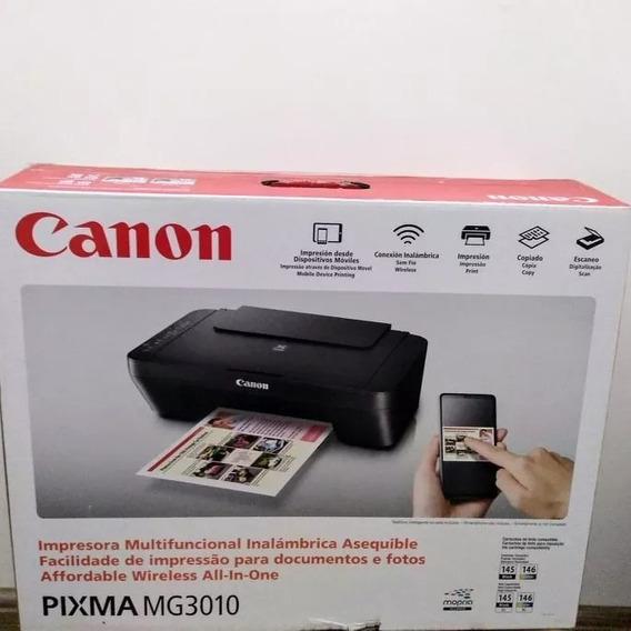 Impressora Multifuncional Wirelles Mg3010 Canon Semi Nova Cx