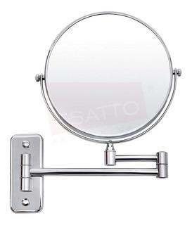 Esatto® Espejo Baño Pared 20 Cms Lupa Aumento Giratorio Para Maquillarse O Rasurarse Ideal Para Baño Tipo Hotel Ac-044