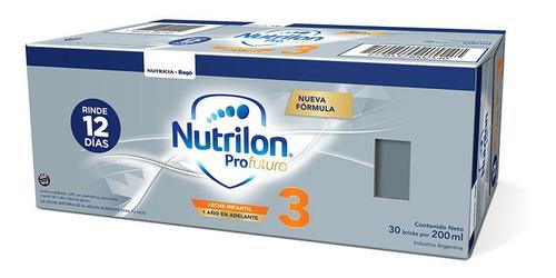 Imagen 1 de 3 de Nutrilon Profutura 3 Formula Lactea Líquida 30 Bricks X200ml