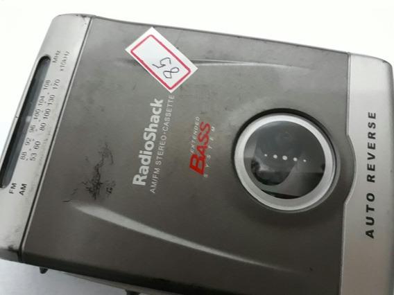 Walkman Rádio Shack Modelo Scp 106 Testado