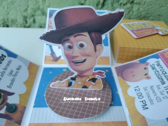 Invitacion Caja Explosiva Fiesta Woody Toy Story