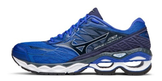 Tênis Mizuno Wave Creation 20 Masculino Azul 4141562-0370
