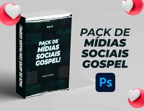 Pack Gospel, Artes Para Redes Sociais Gospel - Editável Psd