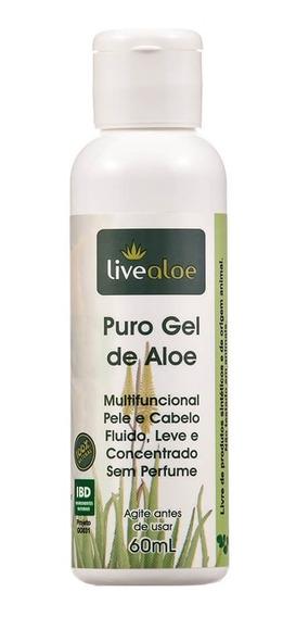 Puro Gel Multifuncional Natural De Aloe 60ml Livealoe