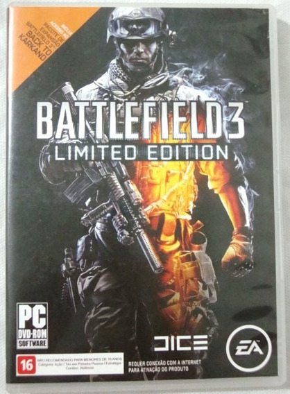 Dvd Jogo Battlefield 3 Limited Edition
