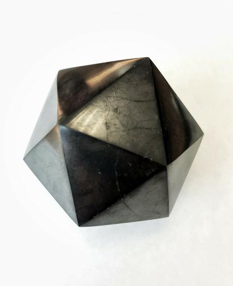 Shungite Icosaedro De 40 Mm Proteccion Emf