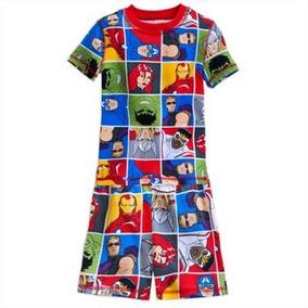 Pijama Avenger Short E Blusa Original Disney Store