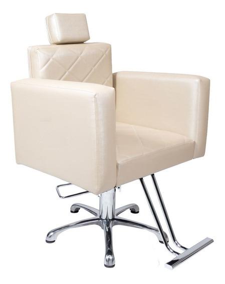 Poltrona Cadeira Hidráulica Para Salão - Evidence Fixa