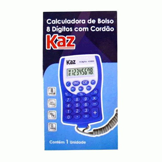 Calculadora De Bolso Kaz Kz5003 Com Cordão