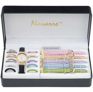 Reloj De Señoras De Navarra Con Bandas Y Caras Intercambiabl