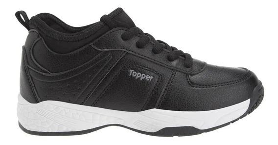 Zapatillas Topper C Tennis Atlas Kids Ng/ng