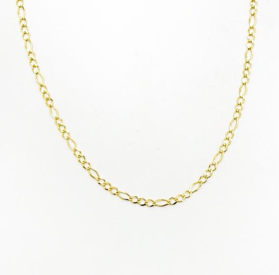 Cadena Figaro 3x1 De Oro De 10k 55cm De 3grs