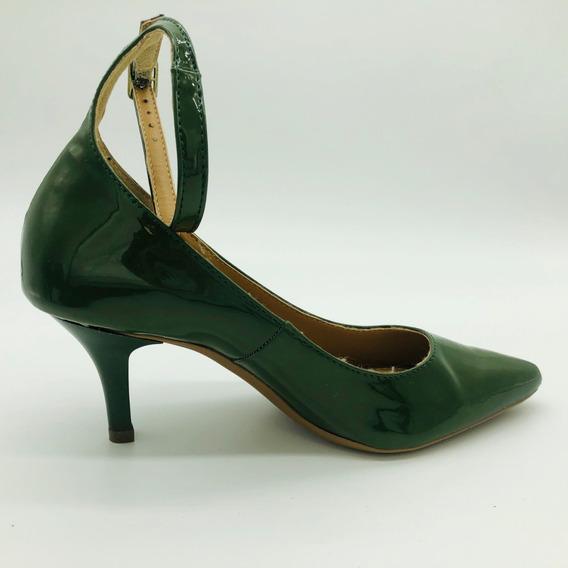 Scarpin Bico Fino Mozione Sapato Salto 7,5 Cm Conforto Macia