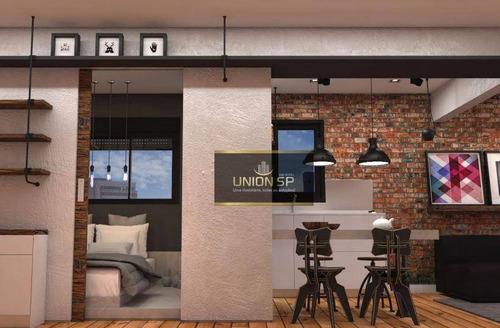 Apartamento Com 1 Dormitório À Venda, 37 M² Por R$ 323.000,00 - Pompeia - São Paulo/sp - Ap46969