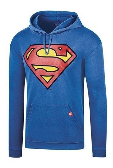 Sudadera Superman Caballero Ltx Scamjl017w Azul 74008 T3