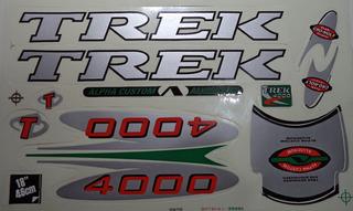 Adesivo Para Bicicleta Trek 400 Cinza Frete Grátis