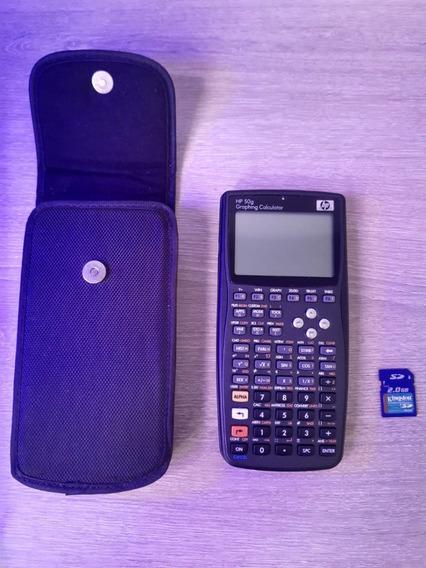 Calculadora Hp 50g + Capa Original + Sd Card