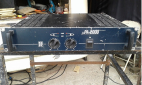 Amplificador Staner Pa 2.000 Não É Gradiente/polivox
