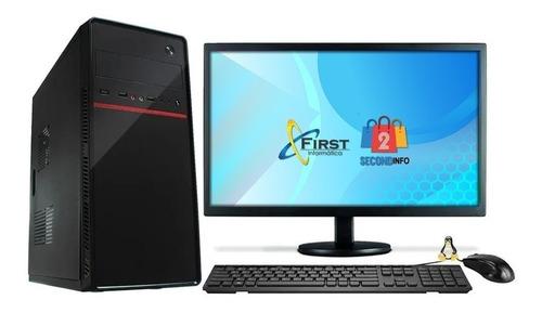 Cpu Computador Completo I5 4gb Ssd 120gb Monitor 19'' Hdmi