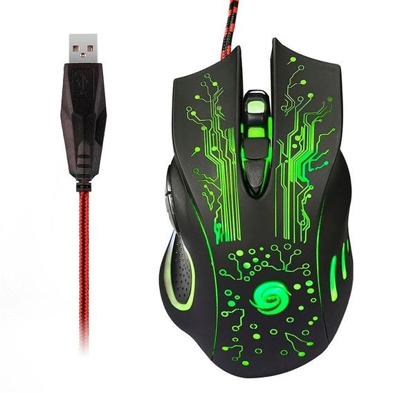 Mouse Gamer X9 Usb 6 Botões Led Óptico 2400dpi E-sports