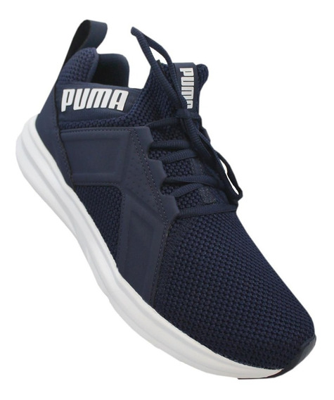 Tênis Puma Enzo Weave Bdp Masculino - Marinho/branco