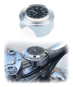 Relógio Cromado Guidão Moto Custom Harley Chopper Frete Bara