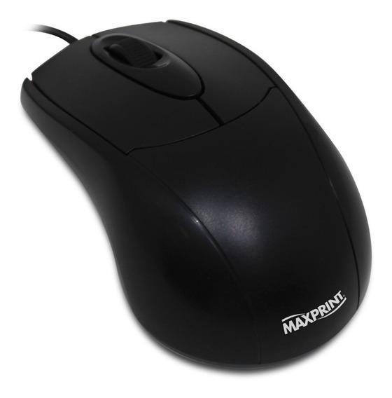 Mouse Ótico 1000 Dpi Conexão Usb - Preto Maxprint