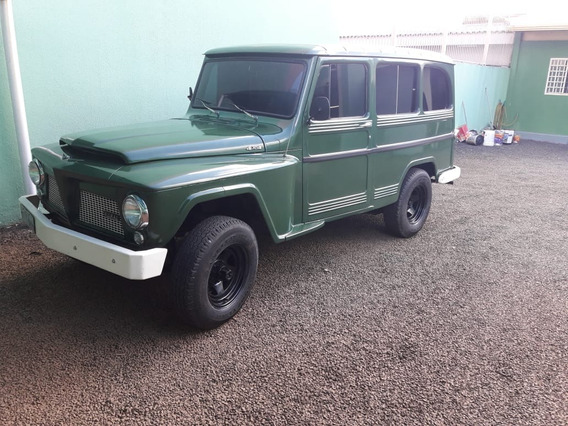 Rural Willys - 1966 Verde 6 Cilindros