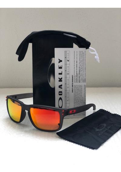 Oakley Holbrook Fire Iridium/smoke Polarized Promocion