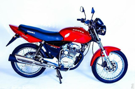 Moto Nacional 150 Cilindradas Sousa 0km Vermelha