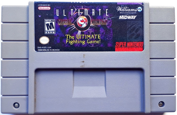 Jogo Ultimate Mortal Kombat 3 Super Nintendo Snes Frete Grts