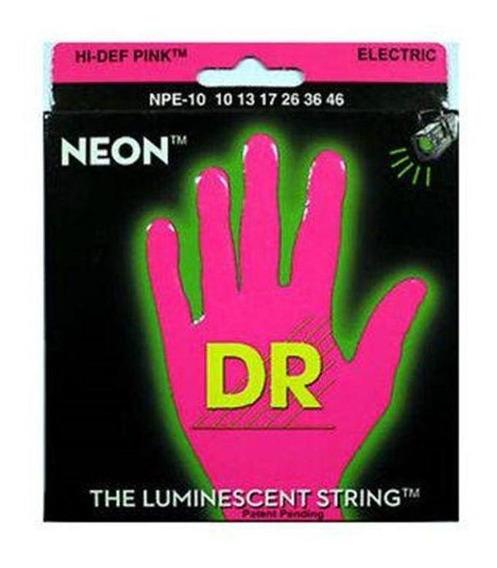 Encordoamento Dr Neon Pink Npe-10 Para Guitarra