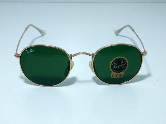 Óculos De Sol Redondo Round Retro Vintage Masculino Feminino Verde Tamanho 50 M