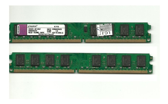 Kit 4gb 2x Kingston Ddr2 2gb 667mhz Cl5 Pc 5300 Dual Channel