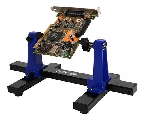 Imagen 1 de 3 de Soporte Ajustable Proskit Para Trabajo C Placas Electronicas