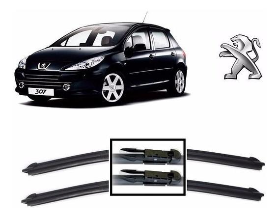 Par Palhetas Limpador De Parabrisa Dianteiro Peugeot 307