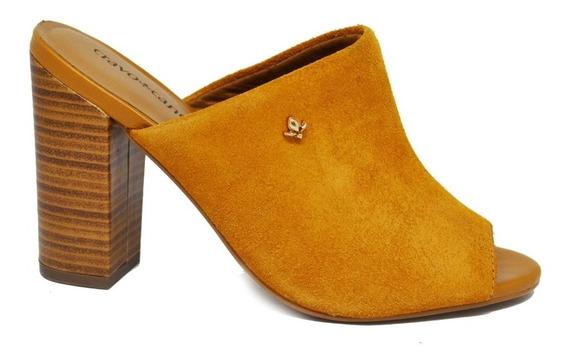 Sapato Mule De Salto Feminino Cravo&canela - Bege