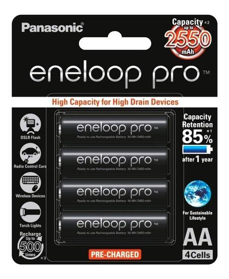 Panasonic Eneloop Pro 4 Pilhas Aa Recarregável 4x Aa 2550mah