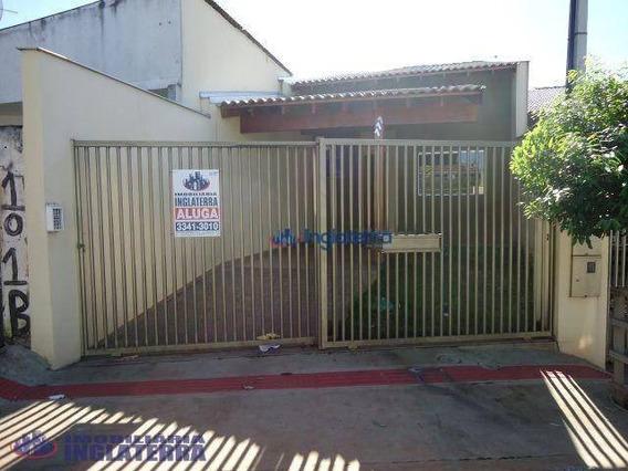Casa Com 3 Dormitórios Para Alugar, 60 M² Por R$ 850,00/mês - Jardim Perobal - Londrina/pr - Ca1594