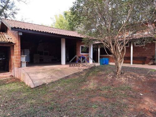 Imagem 1 de 12 de Chácara Com 3 Dormitórios À Venda, 1442 M² Por R$ 691.000,00 - Jardim Tarantela - Jundiaí/sp - Ch0087