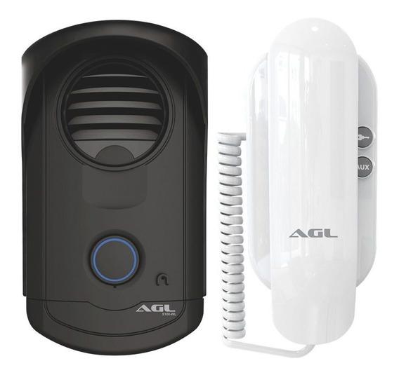 Kit Interfone Porteiro Eletr Agl S100 Slim Abre 2 Fechaduras