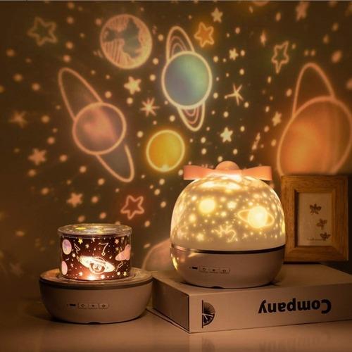 Proyector Luz De Noche Lámpara Led Cielo Estrellado Recargab