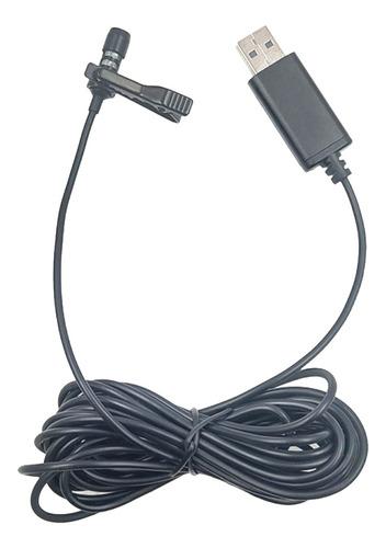 Microfone Universal Do Usb Do Lavalier Para O Computador