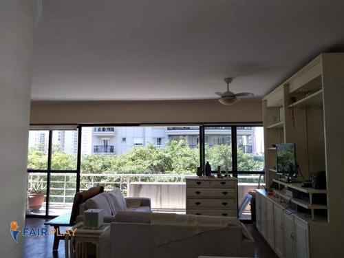 Apto Com 150m Possuindo 4 Dorms 3 Vagas Em Moema - Ap6096